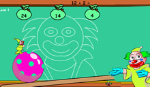 jeu Clown ball math le clown acrobate fait des maths