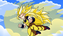 Dragon ball z earth defender avec san go ku